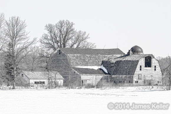Winter Farm B&W